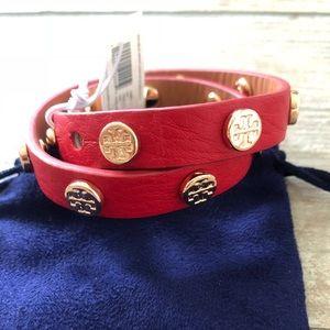 NWT Tory Burch double wrap logo bracelet